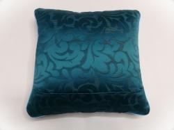 Cuscino luminoso Blue Jacquard RETRO particolare cerniera