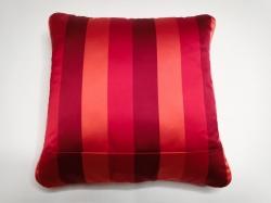 Cuscino Luminoso Rosso Rigato Luce Rossa RETRO dettaglio cerniera