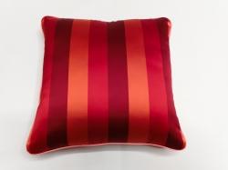 Cuscino Luminoso Rosso Rigato Luce Rossa FRONTE