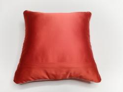 Cuscino Luminoso ROsso Luce Bianca RETRO dettaglio cerniera