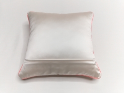 Cuscino Luminoso Bianco Luce Rossa RETRO dettaglio cerniera